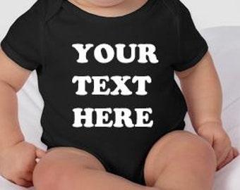 Custom design on colored baby bodysuit - personalized baby gift - personalized baby clothes - unique baby clothing - customized baby clothes