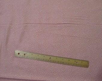 Pink Mini Polka Dot Flannel Fabric by the Yard