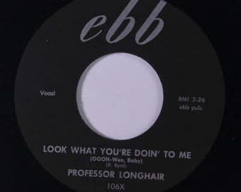 "Vintage Professor Longhair New Orleans Jazz / Blues!  ""Misery"" / ""Look What You're Doin' To Me"" Black Label 45 rpm!"