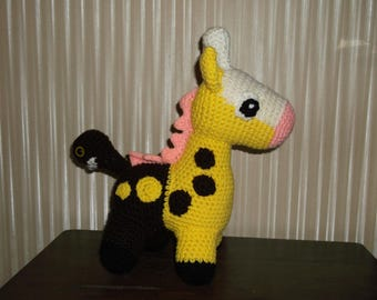 Pokemon inspired Girafarig plush