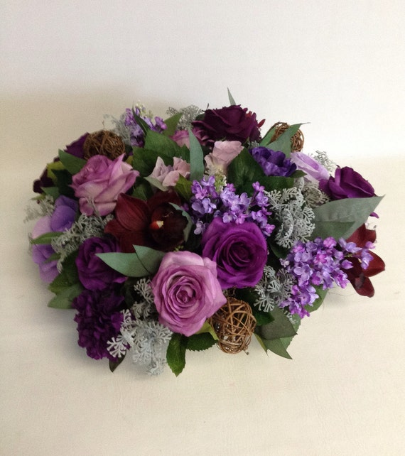 Artificial Flower Arrangement / Romantic Violet / Artificial / Faux Flower Arrangement