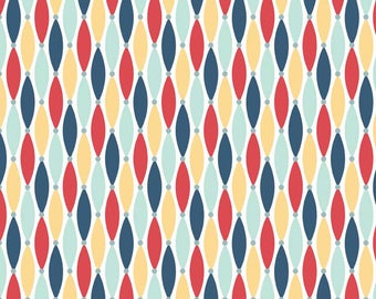 Riley Blake Fabric by the yard Fly Aweigh Yellow C3875