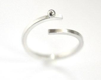 Sterling Silver Rain Drop adjustable ring
