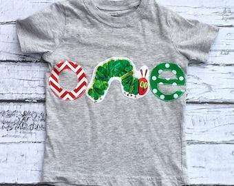 Caterpillar Birthday// One//First Birthday//Gender Neutral//Shirt//Photo Prop//Birthday Shirt//Ready To Ship
