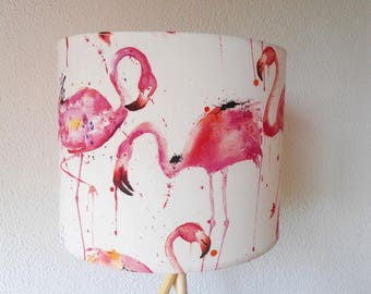 Flamingo lampshade, Birds lampshade, Drum lampshade