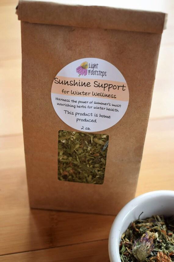 Sunshine Support  for Winter Wellness Herbal Tea ~ Organic Herbal Tea Blend - Homemade - For Ohio Customers Only