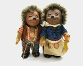 Old Steiff Mecki and Micki //  Vintage Hedgehog with all Ids