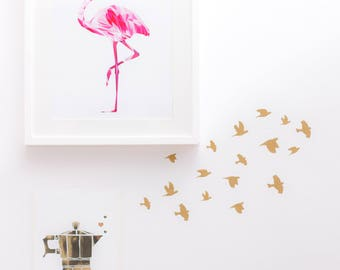 Wall Sticker Golden Mini Birds