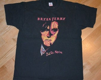 1988 BRYAN FERRY Roxy Music vintage concert tour rock band tee rare original t-shirt (L) Large mens tee 80s 1980s