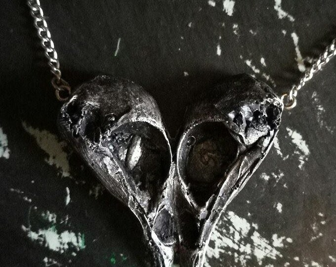 Loved to Death Bird Heart Necklace