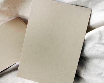 Thick Kraft Cardstock 5x7, 25 sheets, heavy weight card stock, kraft card stock, recycled kraft cardstock, Rustic Cardstock, Wedding DIY