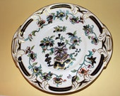 RESERVED FOR K Rare Antique 1870's George Frederick Bower Porcelain hand painted cake plate.