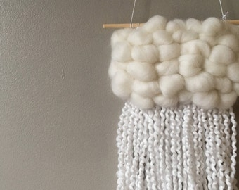 WOVEN CLOUD HANGING (White)