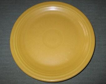 """Vintage HLC Genuine Fiesta Older Yellow 7-3/8"""" Salad Plate (ca. 1950s)"""