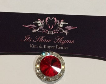 Crystal Pagent Pin - light siam