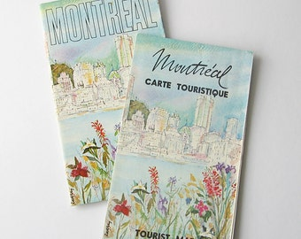 Montreal tourist map and guide, map of Montreal, Quebec, Canada, Canadian city map