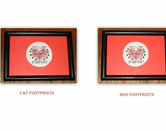 Cat & Dog Footprints Cross Stitch Wall Pieces