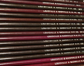 A 25 piece set of vintage 1930-1940 Louisville & Nashville R.R. Co. No 2 Pencils