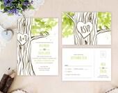 Woodland wedding invitati...