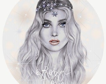 Elsa - fashion illustration portrait