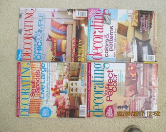 Vintage Better Homes & Gardens Decorating Magazines