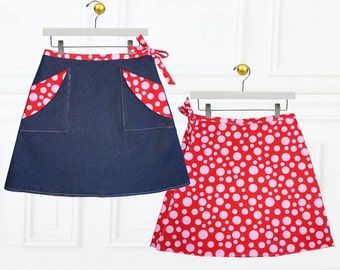 Girls SKIRT Pattern pdf, Wrap skirt pattern, Girls Sewing Pattern, pdf sewing pattern, Skirt Pattern, Childrens Sewing Pattern, MADISON