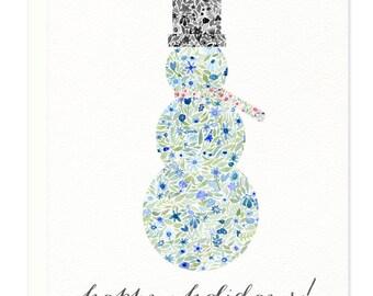 Snowman Holiday Greeting Card