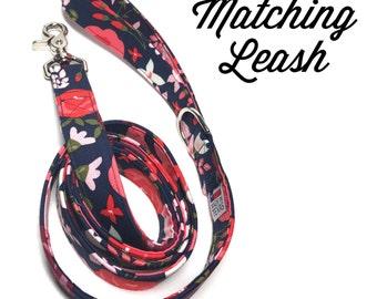 Custom Matching Leash - Handmade Dog Leash - 5 ft. Dog Leash - Matching Dog Collar and Leash