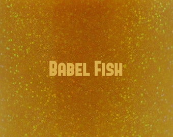 "Babel Fish glitter glow-in-the-dark nail polish 15 mL (.5 oz) from the ""Don't Panic"" Collection"