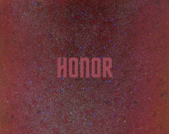 "Honor glitter nail polish 15 mL (.5 oz) from the ""Trek"" Collection"