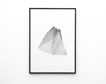 Floating Screen Print | Screen Printed, Minimalist Screen Print | Wall Decor | Wall Print | Hand Screen Printed