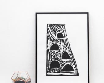 Semicircle Screen Print | Screen Print, Hand Screen Printed | Wall Decor | Wall Print | Hand Screen Printed