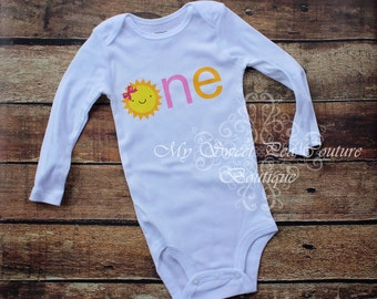 You are My Sunshine First Birthday Outfit- Custom Colors- Personalized- First Birthday Outfit- 1st Birthday- Sunshine- One-Birthday Outfit