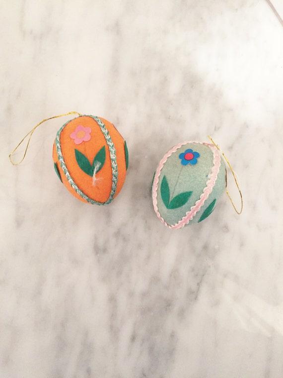 Felt Easter Egg, Vintage Egg Ornament,