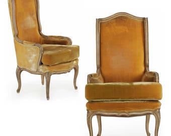 Pair of Hollywood Regency Arm Chairs in Louis XV Style, 20th century