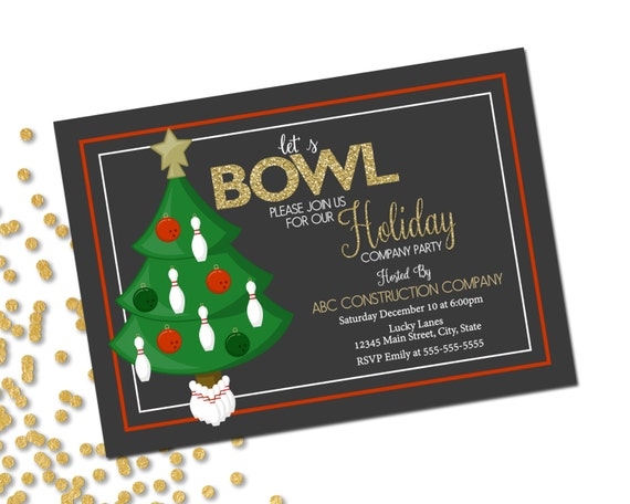 Company Holiday Party Invitation Bowling Party Holiday
