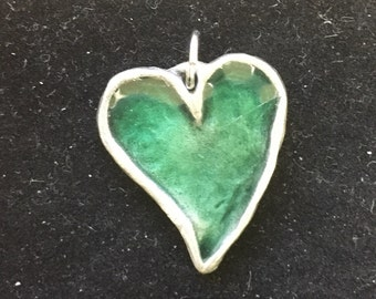 Small pewter heart charm or pendant