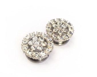 """SALE 20mm (3/4"""") Diamante Ear Plugs"""