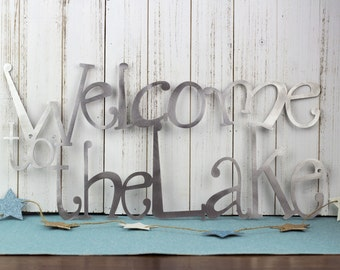 Lake House Wall Art welcome to our cottage metal sign lake house decor metal