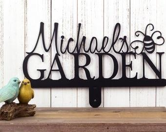 Custom Name Sign | Metal Garden Sign | Garden Sign | Metal Sign | Personalized Gift | Sign | Custom Garden Sign | Bumble Bee