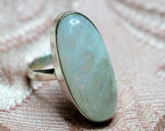 Moonstone Sterling Ring Size 9