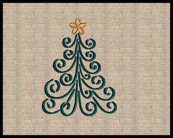Christmas Tree Embroidery Design Christmas Embroidery Design Scroll Christmas Tree Design
