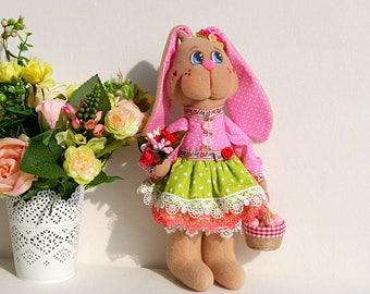 Tilda textile Bunny Easter gift Easter decorations Easter toy Tilda Bunny Textile toy Hare fabric Bunny Toy Easter bunny decor Tilda bunny 6