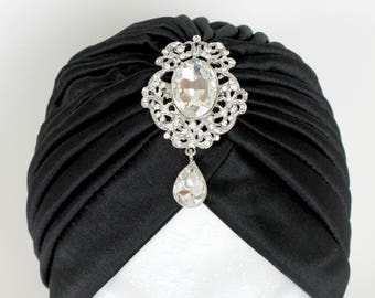 Turban, Fashion Turban, Hair Headwear, Front Twist Hat, Turban, Stretch Turban, Turban Headband, Front Twist Turban, Black Turban Hat