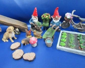 Miniature Garden Fairy Garden Miniature Accessory Set