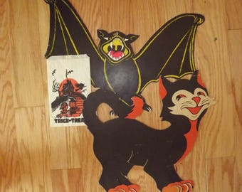 1960s Halloween decorations and Halloween bag