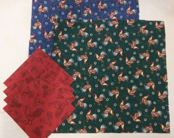 Fabric Destash - Scraps Pieces Quilting, Crafts, Mini Quilts – Roosters