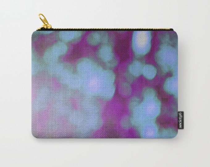 Purple Bokeh Make-up Bag - Pouch-Carry All Pouch- Toiletry Bag - Change Purse - Organizing Bag - Bridesmaid Gift - Made to Order