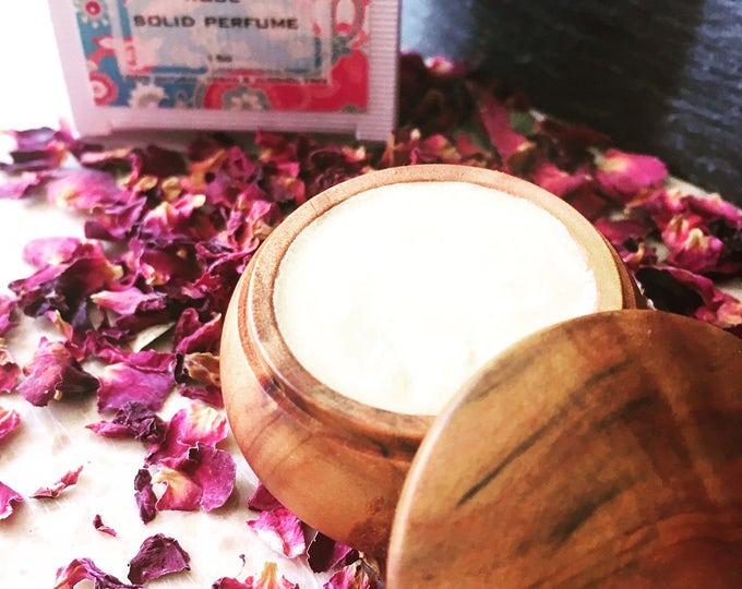 Rose Solid perfume. 100% natural. No alcohol, no artificial additives, no cruelty, vegan