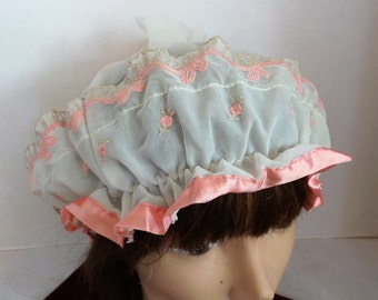 Vintage 50's Boudoir Night Cap